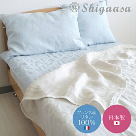 リネン ピローケース 45×65cm【shiga 麻 リネン 100 夏用 枕カバー 涼しい 日本製 国産 生成 ブルー ピンク ベージュ ブラウン パープル 送料無料】