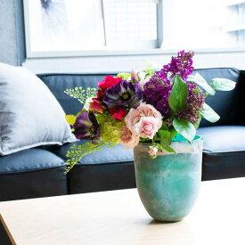 【39ショップ】【送料無料ライン対応】アーティフィシャルフラワー造花ライラックとポピーのスモークグリーンベースS アーティフィシャルフラワー PRIMA |造花 インテリア おすすめ
