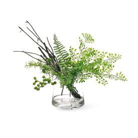 【39ショップ】【送料無料ライン対応】インテリア フェイクグリーン 人工観葉植物 造花アジアンタム×ベリー ウォータートラぺゾイド GREENPARK |