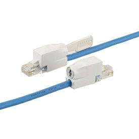 プリンストン 鍵付きLANケーブル 全3色 Cat5e規格/3m PTC-LPシリーズ PTC-LPBU3 PTC-LPGR3 PTC-LPLG3