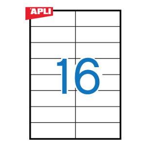 APLI アプリ コピー機対応 A4ラベル 16面(105x37mm) 100枚 (AP-02429)【粘着ラベル ラベルシール ステッカ プリンタラベル 海外文房具 デザイン文房具 文房具かわいい OA用紙 オフィス事務用品 プリン