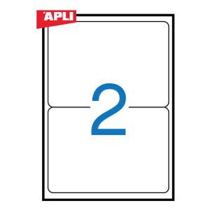 APLI アプリ マルチプリンター対応 A4 角丸 宛名ラベル 2面(199.6x144.5mm) 100枚 (AP-02423)【粘着ラベル ラベルシール ステッカ プリンタラベル 海外文房具 デザイン文房具 文房具かわいい OA用紙 オ