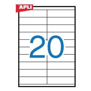 APLI アプリ マルチプリンター対応 A4 宛名ラベル 20面(105x29mm) 500枚 (AP-10562)【粘着ラベル ラベルシール ステッカ プリンタラベル 海外文房具 デザイン文房具 文房具かわいい OA用紙 オフィス事