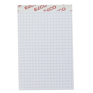 ELCO エルコ Office Notepad 4mm方眼メモパッド A5 ミシン目入 70g m2 100シート (73422-17)【文具 オフィス事務用品 ステーショナリー ノート レポート用紙】