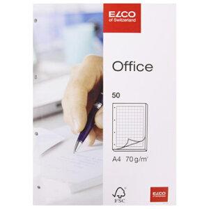 ELCO エルコ Office 5mm方眼ノートパッド A4 4穴 70g m2 50シート (74414-18)【文具 オフィス事務用品 ステーショナリー ノート レター】