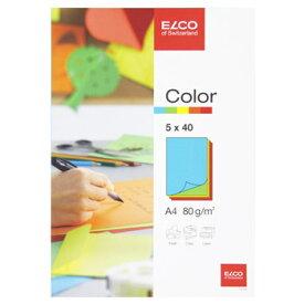 ELCO エルコ OfficeColor カラーペーパー A4 200枚入 アソート (74616-00)【紙 文具 オフィス事務用品 ステーショナリー レター】
