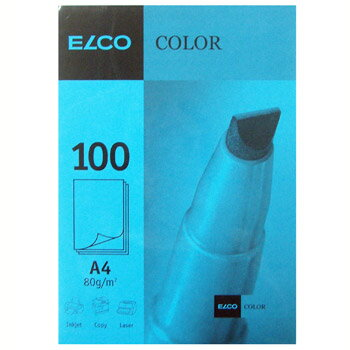 【ELCO(エルコ)】OfficeColor カラーペーパー A4 100枚入 (EL-OP850BL)【紙 文具 オフィス事務用品 ステーショナリー レター】