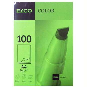 【ELCO(エルコ)】OfficeColor カラーペーパー A4 100枚入 (EL-OP850GR)【紙 文具 オフィス事務用品 ステーショナリー レター】