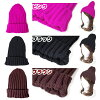 A colorful lapel knit hat (rib stitch) woolen yarn beanie plain knit hat hat pink blue black and white fluorescent color fluorescence green tea color light blue purple red man and woman adult cap [OK] in the fall and winter [OK]
