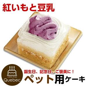 ペットケーキ コミフ 紅いもと豆乳のショートケーキ 誕生日ケーキ バースデーケーキ ペット用ケーキ ワンちゃん用 犬用