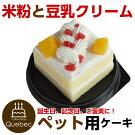 新入荷(コミフ)誕生日ケーキワンちゃん用犬用コミフやさしいスイーツ米粉豆乳クリームペットケーキ