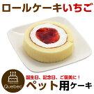 新入荷(コミフ)誕生日ケーキワンちゃん用犬用ワンちゃん用コミフロールケーキイチゴペットケーキ