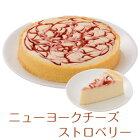 バースデーケーキニューヨークチーズケーキストロベリー7号21.0cm選べるホールorカット