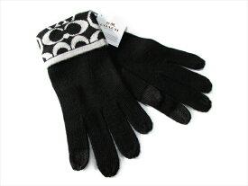 【スペシャル】コーチ 手袋 ニット ロゴ グローブ COACH Knit Logo Touch Gloves F85216 CBS Black [並行輸入品]