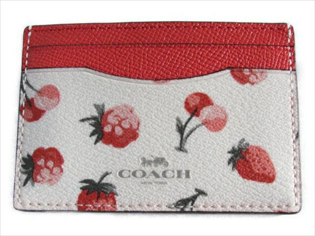 【スペシャル】コーチ カードケース フルーツ プリント COACH Fruit Print Card Case F23678 SVCAH SV/Chalk Multi [並行輸入品]
