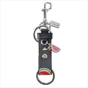 【スペシャル】[コーチ] キーホルダー キーチェーン チャーム キーホブ COACH Leather Valet Key Fob 1733 SV/NAVY/RED