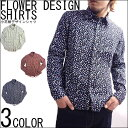 【LOTION】フラワープリントシャツ 小花柄 花柄 長袖 シャツ メンズ カジュアル Mサイズ Lサイズ XLサイズ 20代 30代 …