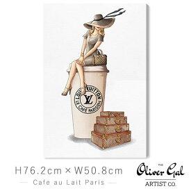 オリバーガル Oliver Gal 絵画 アート インテリア [縦76.2cm×横50.8cm] 壁掛け Cafe au Lait Paris【正規品】【代金引換不可】