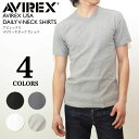 AVIREX アビレックス デイリー Vネック 半袖Tシャツ アヴィレックス インナー メンズ シャツ 6143501