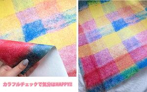 Jebrille(ジュブリー)壁紙COLORFULcheckカラフルチェック日本製不織布デジタルプリント壁紙フリース壁紙【46cmx10.40m】【送料無料】