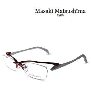 マサキマツシマ Masaki Matsushima メガネ フレーム MF-1232 C-2 レッド・ホワイト 度付きメガネ 伊達メガネ 日本製 眼鏡 (お取り寄せ)