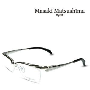 マサキマツシマ Masaki Matsushima MF-1241 C-2 シルバー 度付きメガネ 伊達メガネ メンズ 日本製 眼鏡 メガネ フレーム 新作