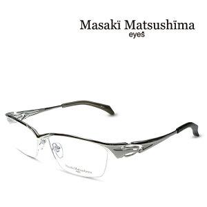マサキマツシマ Masaki Matsushima MF-1243 C-1 シルバー 度付きメガネ 伊達メガネ メンズ 日本製 眼鏡 メガネ フレーム 新作