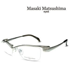マサキマツシマ Masaki Matsushima MF-1246 C-2 シルバー 度付きメガネ 伊達メガネ メンズ 日本製 眼鏡 メガネ フレーム