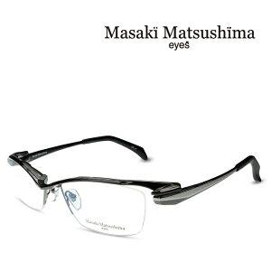 マサキマツシマ Masaki Matsushima MF-1246 C-4 ガンメタル シルバー 度付きメガネ 伊達メガネ メンズ 日本製 眼鏡 メガネ フレーム