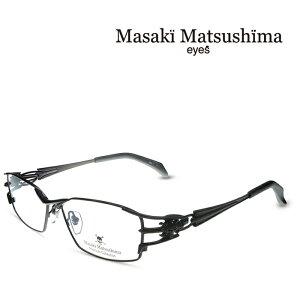 マサキマツシマ Masaki Matsushima MFP-548 C-1 ガンメタ 度付きメガネ 伊達メガネ メンズ プレミアムコレクション スカルシリーズ 日本製 眼鏡 メガネ フレーム