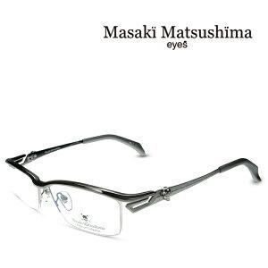 マサキマツシマ Masaki Matsushima MFP-549 C-1 グレー 度付きメガネ 伊達メガネ メンズ プレミアムコレクション スカルシリーズ 日本製 眼鏡 メガネ フレーム 新作