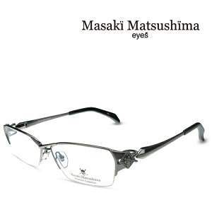 マサキマツシマ Masaki Matsushima MFP-550 C-1 アンティークシルバー 度付きメガネ 伊達メガネ メンズ プレミアムコレクション スカルシリーズ 日本製 眼鏡 メガネ フレーム