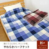 ハーフケットブランケット毛布ハーフ毛布やわらかチェック洗える暖か100×140cmブランケット洗える暖か暖かい洗えるかわいいもこもこふんわり軽いなめらかタッチあったか寝具子供部屋キッズ