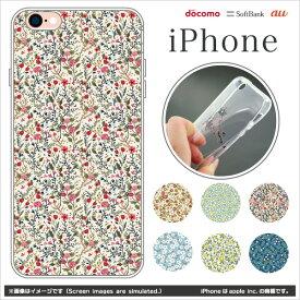 【ポイント10倍】【iPhone 全機種対応】スマホケース iPhone8 XS Max XR X Galaxy Xperia 携帯 ケース スマホ カバー クリア (リバティ柄:TPU) 【iPhone6s/iPhone6s Plus/ソフトカバー/耐衝撃/花柄/小花】