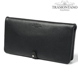 TRAMONTANO トラモンターノ 2つ折りクラッチバッグ セカンドバッグ レザー シボ革 ブラック 黒 メンズ 男性 紳士 冠婚葬祭 ビジネス カジュアル 1324 ALCE NERO/BLACK CLUTCH BAG