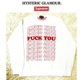 【国内正規品】Supreme(シュプリーム)HYSTERIC GLAMOUR × Supreme Fuck You Sweater サイズ MSupreme 2017 fw Supreme 17 fw【中古】【新古品 未使用品