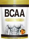 BULKEY BCAA 9000mg サプリメント マンゴー風味500g40食分 幸せラボ 送料無料