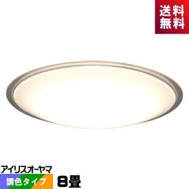 アイリスオーヤマ CL8DL-5.1CF LEDシーリング 8畳 調光・調色タイプ メタルサーキットシリーズ クリアフレーム