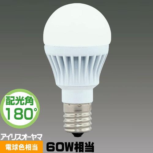 アイリスオーヤマ LDA8L-G-E17-6T5 LED電球 小形電球形 60W相当 電球色相当 広配光
