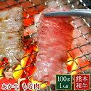 あか牛 お歳暮 国産 和牛 赤毛和牛 ギフト 熊本 焼き肉 ブロック 1人前 100g(100g×1パック) モモ 褐毛和牛 贈り物 内…