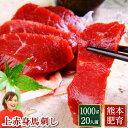 馬刺し 1kg 送料無料 熊本 上赤身 約20人前 1000g 約50g 20パック 馬刺 馬肉 赤身 焼肉 肉 ユッケ ギフト 内祝い プレ…