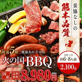 馬刺し 焼肉 バーベキュー BBQ キャンプ 火の国セット(6〜8人前) 2,100g 牛肉 豚肉 鶏肉 九州 熊本 焼き肉 バーベキュー 利他フーズ 母の日 ギフト バレンタイン チョコ以外