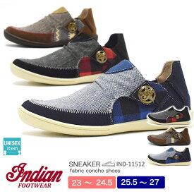 【送料無料】INDIAN メンズ/レディース カジュアルローカットシューズ 11512|12512 23.0-24.5/25.5-27.0/シューズ/ブーツ/靴/