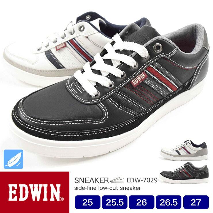 【送料無料】EDWIN メンズ スニーカー 軽量 スニーカー 7029 25.0/25.5/26.0/26.5/27.0/シューズ/メンズ スニーカー/靴/2019春夏モデル/新作