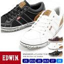 【送料無料】EDWIN/エドウィン メンズ カジュアルローカットスニーカー 7138 25.0/25.5/26.0/26.5/27.0/28.0/シュー…