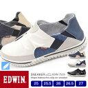 【送料無料】EDWIN メンズ ビンテージ スリッポン 軽量 スニーカー 7535 25.0/25.5/26.0/26.5/27.0/シューズ/メンズ スニーカ...