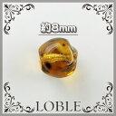 【ゆうパケット対応】(30粒)8mm 変形型 チェコ ガラスビーズ 柄付トパーズ チェコ ガラス ビーズ ネックレス …