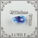 しずく2つ穴型ビーズ 12.5×7mm サファイアAB(100粒) ガラス ビーズ ネックレス ブレス ピアス イヤリング チェコビーズ チェコガラス アクセサリー オリジナル プレゼント  12mm