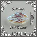 リーフ型 チェコ ガラスビーズ 12×7×4mm クリスタルAB(30粒)チェコ ガラス ビーズ  クリスタル カットガラス ネックレス ブレス ピアス イヤリング リーフ 葉っぱ  葉 オリジナル