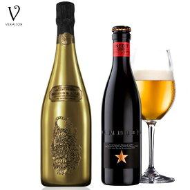 ドラゴン シャンパン【正規品 タイガー ゴールド 750ml】【ビール イネディット 330ml】2本セット タイガー DRAGON&TIGER 750ml 高級 ワイン ギフト 贈り物